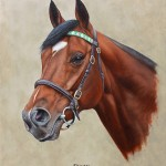 Frankel portrait. Oil on panel