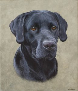 labrador oil painting